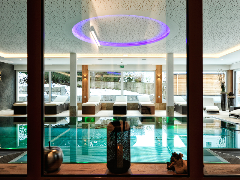 Wellnesslandschaft im Hotel in Ramsau